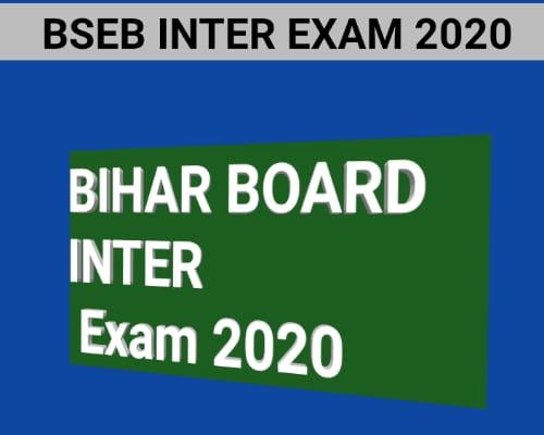 BIHAR BOARD INTER EXAM 2020