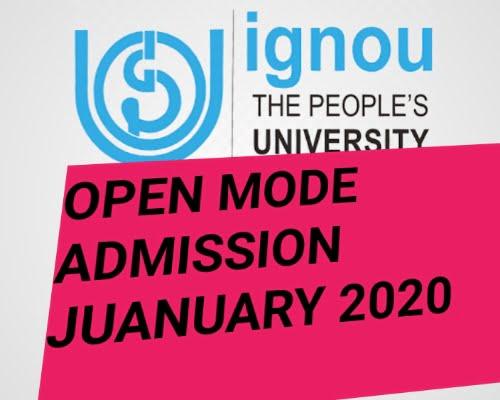 IGNOU ADMISSION 2020 APPLICATION