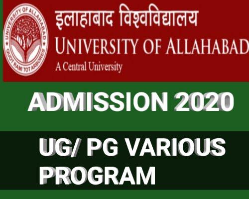 ALLAHABAD UNIVERSITY ADMISSION UG PG PROGRAMME