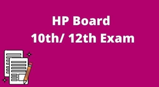 HP Board Matric Exam Time Table 2021-