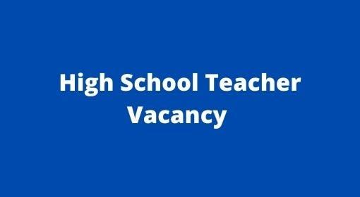 UP Junior High School Vacancy 2021, UP Aided High School Teacher Vacancy apply 2021