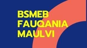 BSMEB FAUQANIA MAULVI SCRUTINY FORM 2021   Fokania molvi scrutiny form 2021